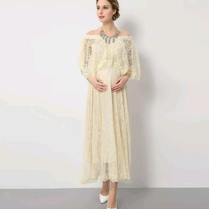 Dresses & Skirts - Vintage inspired lace maternity gown